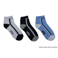 Cotton Spandex Anklee Lenght Sport Socks - WHITE -