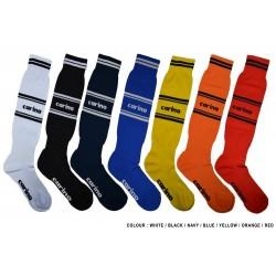 Cotton Spandex 1/2 Length Sport Socks - WHITE -